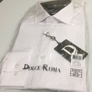 c40a56533 dolce roma Shirts - Dolce Roma Mens 100% Cotton Slim Fit Dress Shirt